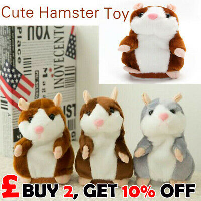 2018 Cute Talking Hamster Nod Mouse Record Chat Mimicry child Plush Toy Gifts UK