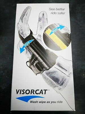 Visorcat Visor Cleaner Wipe And Wash Shoei Arai Nolan Schuberth Shark X-Lite Hjc