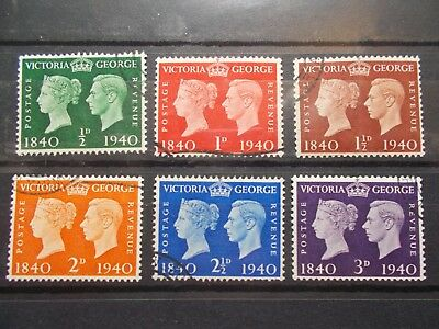 GB 1940 Commemorative Stamps~Centenary~Fine Used~UK seller