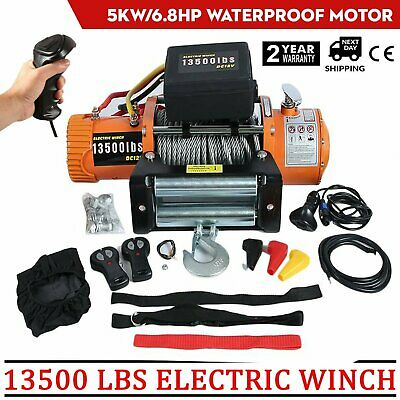 ELECTRIC WINCH 13500 lb recovery truck 12v Off road 4x4 WIRELESS Winch It