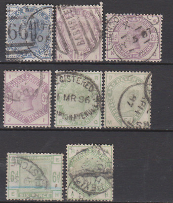 GB 1883 Used Part set to 1/-