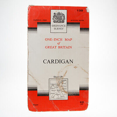 1967 Ordnance Survey Seventh Series Map Cardigan Sheet 139 - One-Inch