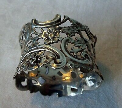 STERLING SILVER NAPKIN RING London  1898  Initialed KMB