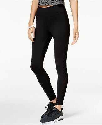 6ee01d9be3513b Jessica Simpson Warmup Mesh Inset Skinny Leg Workout Pants Black Juniors  Small S