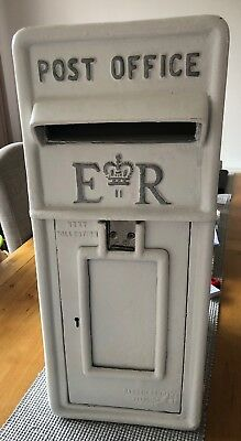 Royal Mail E ll R Cast Iron Front Post Box.