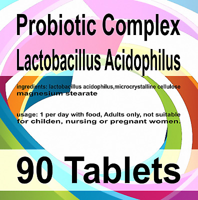 90 x Probiotic MAX 6 Billion CFU Veg Tablets Acidophilius HIGH Potency