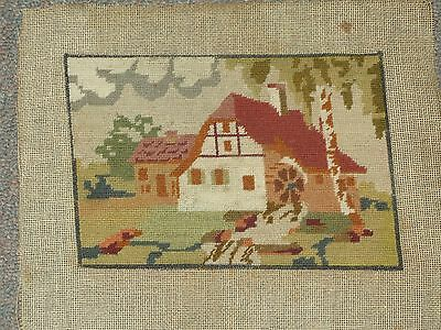 """Vintage Hand Stitched Needlepoint Petit point Tapestry  5"""" x 7"""""""