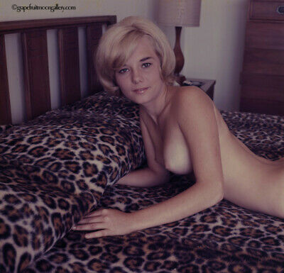 Bunny Yeager 60s Color Camera Transparency Photograph Pretty Blonde Pixie Cut NR