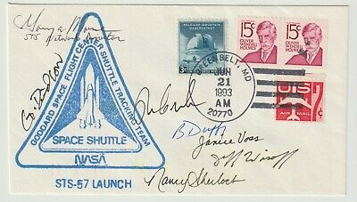 Nasa Space Shuttle Mission Sts 57 Crew Signed Flight Cover