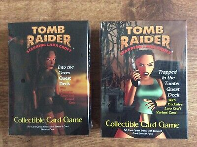 Tomb Raider CCG Cards Quest Decks Into The Caves/Trapped in the Tombs NEW Sealed