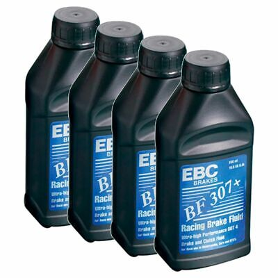 EBC Brakes Racing Brake Fluid - Motorcycle 4 x 500ml Glycol Based