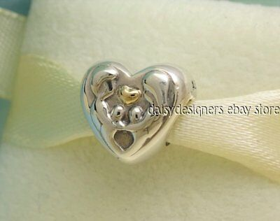NEW Authentic Pandora Silver 14k Gold HEART OF THE FAMILY Charm 791771 RETIRED