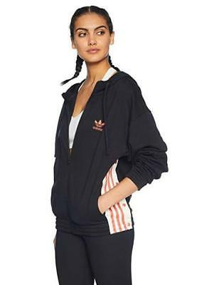 NEW adidas Originals Women s Zip Hoodie Snap Adibreak Jacket Trefoil Logo  DH4665 a913e7c17e441