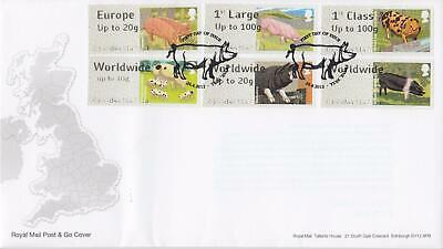 GB 2012 (24th April) Farm Animals Post & Go Stamps on Royal Mail Cover, LOOK!