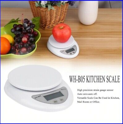 5kg 5000g/1g Digital Kitchen Food Scale Balance LED Electronic Weight Cooking 19