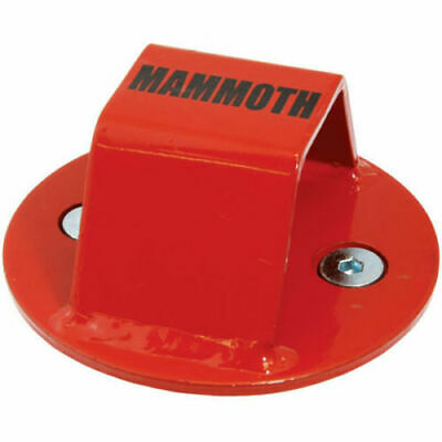 Mammoth Junior Ground Wall Anchor Motorcycle Scooter Security Anchor Red