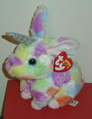 NEW 2019 Release Ty Beanie Boos ~ BEGONIA the Tie Dyed Bunny Rabbit 6-7 1ebe314dfe41
