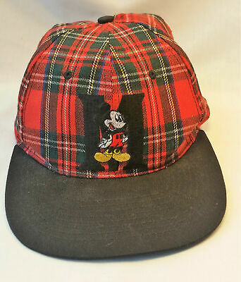 5f6c8d287c5 Mickey Mouse Unlimited Plaid Letterman Disney Snapback Trucker Baseball Cap  Hat