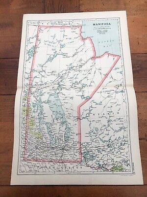 1900s double page map from g.w. bacon - manitoba