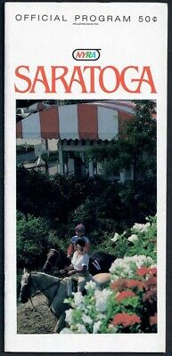 Champion Groovy In 1985 Saratoga Hopeful Stakes Horse Racing Program!