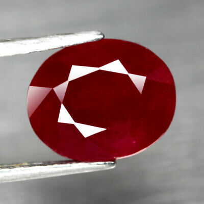5.48 Ct. Oval Facet Big Natural Ruby Top Blood Red Madagascar Interesting