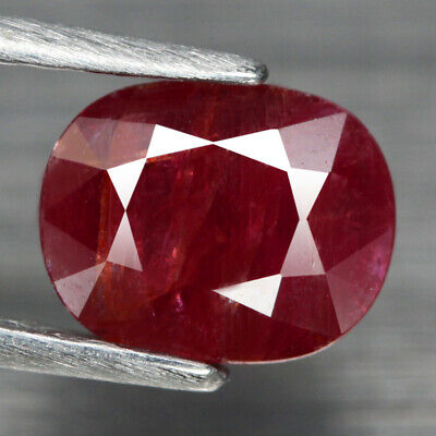 2.03 Ct. Oval Facet Natural Ruby Pinkish Red Mozambique Alluring Unheated