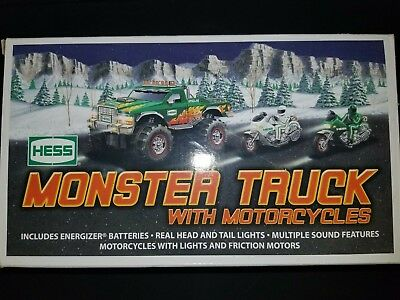 2007 Hess Monster Truck With Motorcycles NEW
