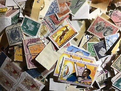 Worldwide Stamps lot. Mixed lot of 1000 stamps, used / unused off paper stamps