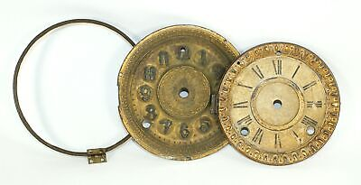 LOT of TWO TIME AND STRIKE CLOCK DIAL PANS (1) is E.N. WELCH - BR1425