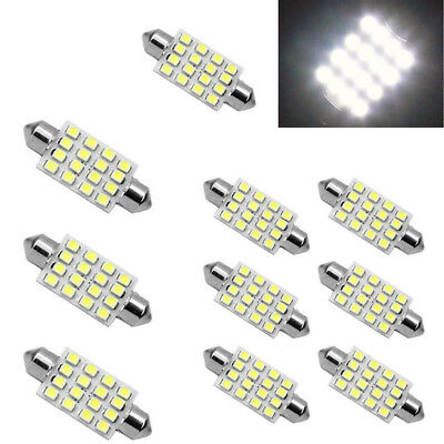 3Pcs white 42mm 16SMD Car LED Festoon Dome Map Interior Cargo Light Bulbs 578 U