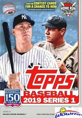 2019 Topps Series 1 Baseball EXCLUSIVE HUGE Factory Sealed 67 Card Hanger Box