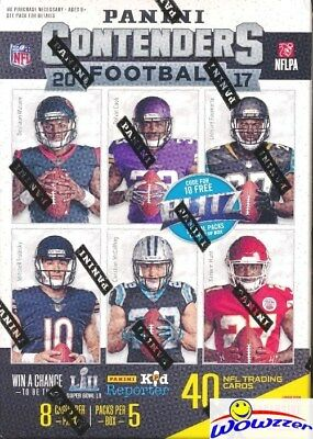2017 Panini Contenders Football EXCLUSIVE Sealed Blaster Box-AUTOGRAPH/MEM