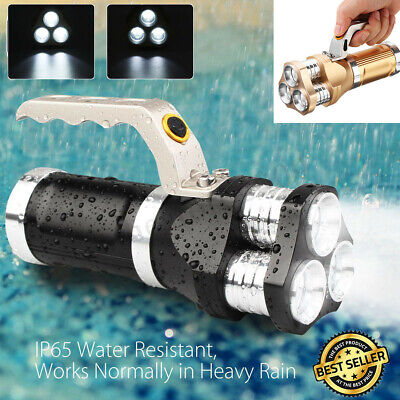 90000LM 3x T6 LED Flashlight Rechargeable Searchlight Tactical Spotlight Torch