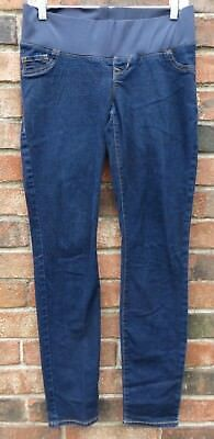 53c399d1e0d1f WOMENS OLD NAVY Maternity Low Panel Skinny Jeans Pants Stretch Dark ...