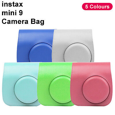 Fujifilm Instax Mini 8 9 Film Instant Camera  Bag PU Leather Cover Case