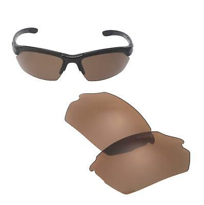 New Walleva Mr.Shield Brown Polarized Replacement Lenses for Smith Parallel Max