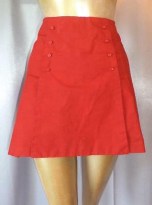 PIN-UP CRIMSON RED SAILOR FRONT Vintage 1950s SKIRTED COTTON SHORTS - SM / XS