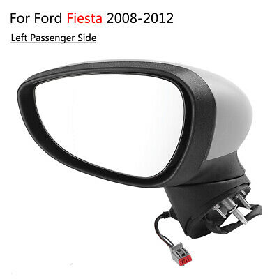 Left Passenger Side Electric Primed Complete Wing Mirror for Ford Fiesta 2008-12