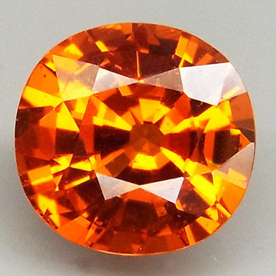 2.08ct.100%Natural Orange Mandarin Spessartite Garnet AAA Unheated Ravishing Gem