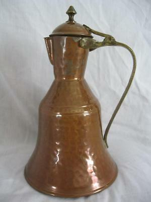 Early Primitive Hammered Copper Pitcher Water Jug Coffee Pot Tea Pot Ewer