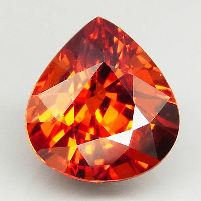 2.29ct.100%Natural  Orange Mandarin Spessartite Garnet AAA Unheated Pear Shape