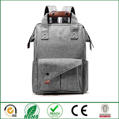 Multi-use Large Mummy Baby Diaper Nappy Mom Backpack Portable Travel Bag Gray