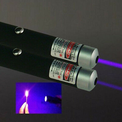 1mW POWERFUL PURPLE LASER LAZER POINTER PEN HIGH POWER PROFESSIONAL 532nm D1B9R