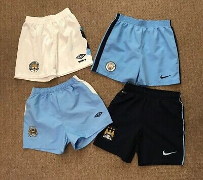 Job lot bundle boys Manchester City shorts x 4 size 6-7/8-10 years Nike Umbro