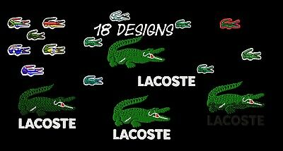 Machine Embroidery Designs - 18 Lacoste Embroidery Designs - Pes Dst Jef Formats