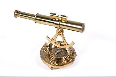 Alidada Telescope with Compass Nautical Brass Marin Collectibles