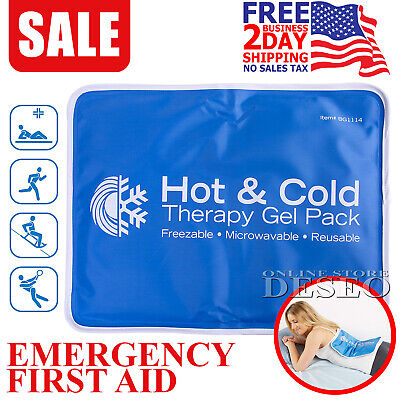 Large Hot Cold Therapy Pad Heating Pack Reusable Gel Pain Relief Back Compress
