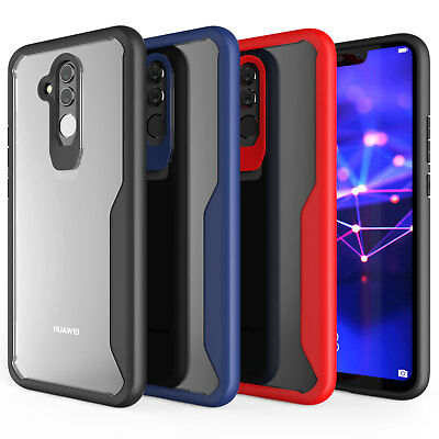 Huawei Mate 20 Lite Case, Premium Protection Silicone TPU Hybrid Cover Clear UK
