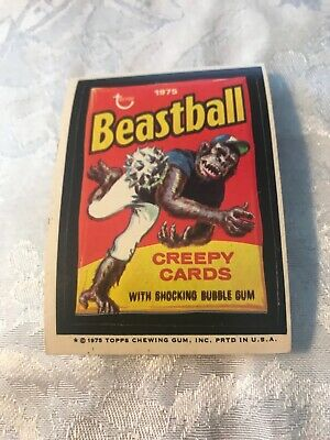 Beastball 1975 Wacky Packages 13th series 13 Vg Plus Excellent No Reserve