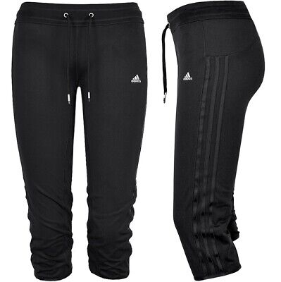Adidas CT 3/4 Tight Kinder Sport Hose Trainingshose Legging Shorts Capri schwarz
